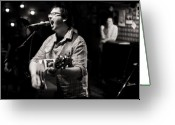 Live Music Greeting Cards - Lucky Break Greeting Card by Andrew Kubica