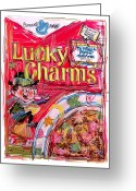 Irish Mixed Media Greeting Cards - Lucky Charms Greeting Card by Russell Pierce