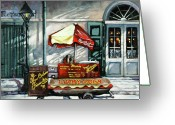 New Orleans Artist Greeting Cards - Lucky Dogs Greeting Card by Dianne Parks