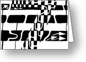 Learn To A Maze Greeting Cards - Lucky Maze Number 7 Greeting Card by Yonatan Frimer Maze Artist