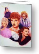 Lucille Ball Greeting Cards - Lucy A Tribute early career Greeting Card by Bill Mather