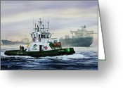 Tanker Greeting Cards - Lucy Foss Greeting Card by James Williamson