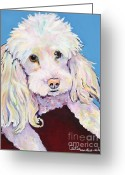 Artist Canvas Painting Greeting Cards - Lucy Greeting Card by Pat Saunders-White