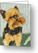 David Kent Collections Greeting Cards - Lucys Best Smile Greeting Card by David  Hearn