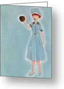 Lucille Ball Greeting Cards - Lucys Chocolate Covered Ball Greeting Card by Ricky Sencion