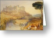 Romanticist Greeting Cards - Ludlow Castle  Greeting Card by Joseph Mallord William Turner