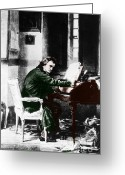 Compose Greeting Cards - Ludwig Van Beethoven, German Composer Greeting Card by Photo Researchers, Inc.