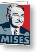 Conservative Greeting Cards - Ludwig von Mises Greeting Card by John L