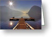 Winter Sun Greeting Cards - Lugano Greeting Card by Joana Kruse