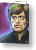 Luke Skywalker Greeting Cards - Luke Skywalker Greeting Card by Buffalo Bonker