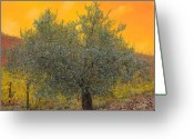 Summertime Greeting Cards - Lulivo Tra Le Vigne Greeting Card by Guido Borelli