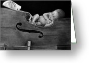 Instruments Drawings Greeting Cards - Lullaby  Greeting Card by Curtis James