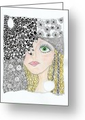 Paula Dickerhoff Greeting Cards - Lulu Greeting Card by Paula Dickerhoff