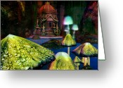 Cavern Greeting Cards - Luminous Cavern Greeting Card by Phil Vooz