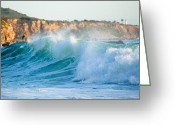 Swell Greeting Cards - Lunada Bay Ocean Spray Greeting Card by Adam Pender