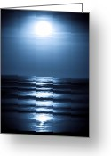 Tides Greeting Cards - Lunar Dreams Greeting Card by DigiArt Diaries by Vicky Browning