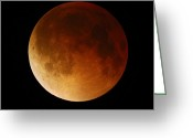 2007 Greeting Cards - Lunar Eclipse, 28/08/2007 Greeting Card by John Sanford