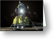 Featured Greeting Cards - Lunar Module Ascent Greeting Card by Nasa