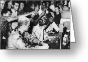 Civil Rights Photo Greeting Cards - Lunch Counter Sit-in, 1963 Greeting Card by Granger