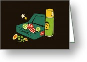 Game Greeting Cards - Lunch for all Greeting Card by Budi Satria Kwan