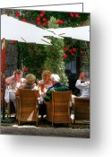 Wicker Chairs Greeting Cards - Lunch Time Greeting Card by Douglas J Fisher
