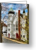 Canadian Greeting Cards - Lunenburg United Greeting Card by Jeff Kolker