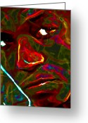 Impressionist Art Greeting Cards - Lupe Fiasco Greeting Card by Byron Fli Walker