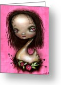 Eyes.fantasy Greeting Cards - Lupita Greeting Card by  Abril Andrade Griffith