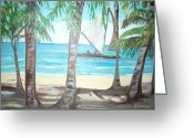 Teresa Dominici Greeting Cards - Luquillo Beach Greeting Card by Teresa Dominici