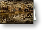 Caves Greeting Cards - Luray Caverns - Virginia - Reflections at Dream Lake Greeting Card by Brendan Reals