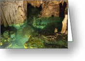 Caves Greeting Cards - Luray Caverns - Wishing Well - Virginia Greeting Card by Brendan Reals
