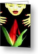  Digital Collage Greeting Cards - Luscious Too Greeting Card by Torie Tiffany
