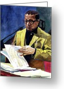 Music Icon Greeting Cards - Lush Life Billy Strayhorn Greeting Card by David Lloyd Glover