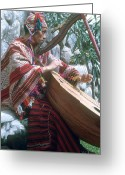 Player Photo Greeting Cards - Lute Player Greeting Card by Photo Researchers, Inc.