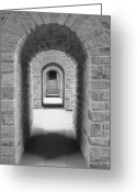 Passageways Greeting Cards - Luxembourg Passages Greeting Card by Catherine Murton