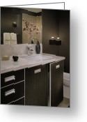 Cupboards Greeting Cards - Luxury Bathroom Greeting Card by Robert Pisano