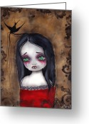 Vampire Painting Greeting Cards - Luzie Greeting Card by  Abril Andrade Griffith