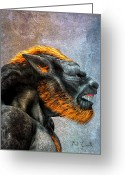 Werewolf Mixed Media Greeting Cards - Lycan Greeting Card by Bob Orsillo