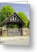 Churchyard Greeting Cards - Lychgate of All Saints Church - Alrewas Greeting Card by Rod Johnson
