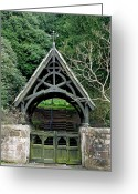 Churchyard Greeting Cards - Lychgate to St Peters Churchyard - Alton Greeting Card by Rod Johnson