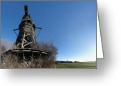 Fyn Greeting Cards - Lydinge Windmill Greeting Card by Robert Lacy