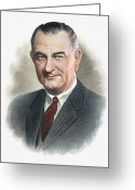 Lbj Greeting Cards - Lyndon B.johnson (1908-1973) Greeting Card by Granger