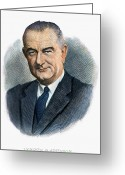 Lbj Greeting Cards - Lyndon Johnson (1908-1973) Greeting Card by Granger