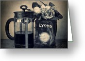 Coffee Beans Greeting Cards - Lyons Traditional Coffee Greeting Card by Ian Barber
