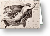 Laurel Wreath Greeting Cards - Lyre Of Orpheus Greeting Card by Granger