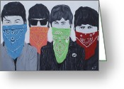 Ringo Starr Greeting Cards - Lyrical Gangsters Greeting Card by Austin James
