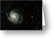 Spiral Greeting Cards - M-101, The Pinwheel Galaxy Greeting Card by A. V. Ley