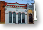 Store Fronts Greeting Cards - M Building Greeting Card by Jan Amiss Photography
