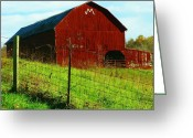 Shenandoah Greeting Cards - M is for Mick Greeting Card by Joyce L Kimble
