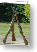Firearms Photo Greeting Cards - M1 Pyramid Greeting Card by Carolyn Marshall